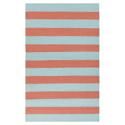 <strong>Draper Stripe Azure & Coral Rug</strong>