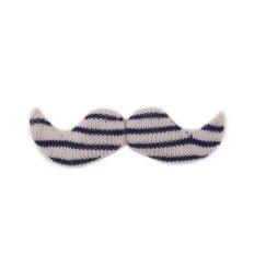 <strong>Giant Mustache- White/Navy</strong>