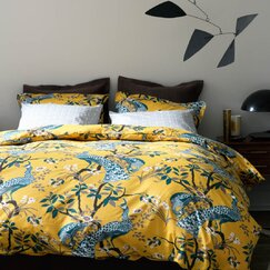 <strong></strong> Peacock Citrine Duvet Cover