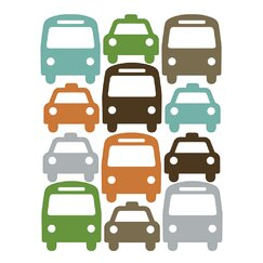 <strong>DwellStudio</strong> Cars Wall Decal