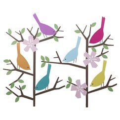 <strong></strong> Sparrows Wall Decal