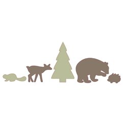 <strong></strong> Woodland Tumble Wall Decal