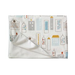 <strong></strong> Skyline Light Blue Velour Stroller Blanket