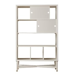 Mid-Century French White Bookcase