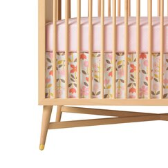 <strong>DwellStudio</strong> Rosette Blossom Percale Crib Skirt