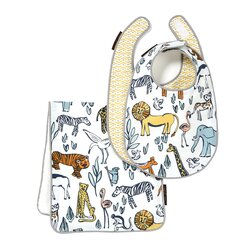 <strong>DwellStudio</strong> Safari Bib & Burp Set