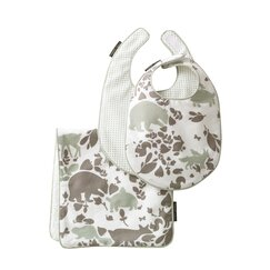 <strong></strong> Woodland Tumble Bib & Burp Set