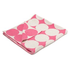 <strong>DwellStudio</strong> Graphic Dot Orchid Blanket