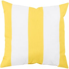 <strong></strong> Awning Stripe Lemon Outdoor Pillow