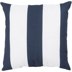 <strong></strong> Awning Stripe Navy Outdoor Pillow