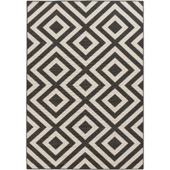 <strong>DwellStudio</strong> Evans Trellis Smoke Outdoor Rug