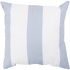 <strong></strong> Awning Stripe Dove Outdoor Pillow