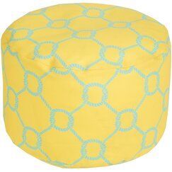 <strong>Rope Trellis Pouf Ottoman</strong>