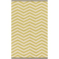 <strong></strong> Chevron Chatreuse Outdoor Rug