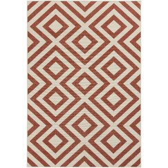 <strong></strong> Evans Trellis Clay Outdoor Rug