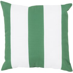 <strong></strong> Awning Stripe Kelly Green Outdoor Pillow