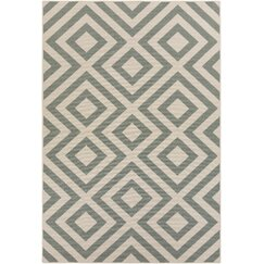 <strong>DwellStudio</strong> Evans Trellis Dove Outdoor Rug