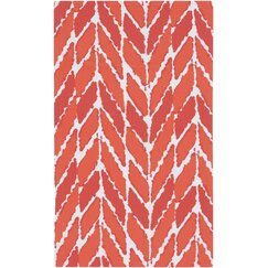 <strong></strong> Arrow Tangerine Outdoor Rug