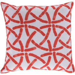 <strong></strong> Celtic Trellis Persimmon Outdoor Pillow
