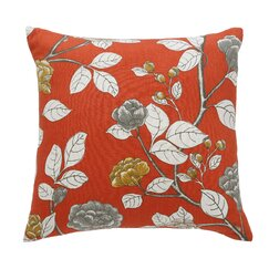<strong>DwellStudio</strong> Leda Peony Persimmon Pillow
