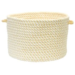 <strong>Woven Mini-Stripe Bin in Latte</strong>