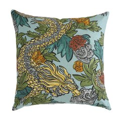 <strong></strong> Ming Dragon Aquatint Pillow