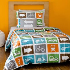 <strong>Transportation Duvet Set</strong>