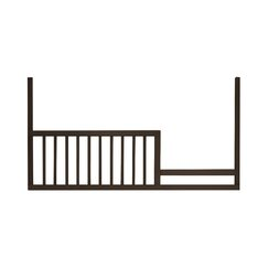 <strong>DwellStudio</strong> Mid-Century Espresso Toddler Rail