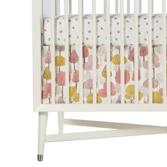 Treetops Percale Crib Skirt