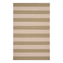 Draper Stripe Celery Outdoor Rug