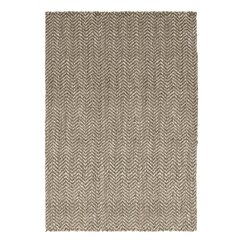 <strong></strong> Herringbone Jute Grey Rug