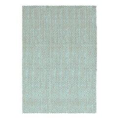 Herringbone Jute Slate Blue Rug
