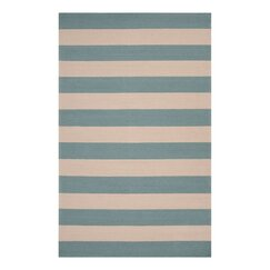 <strong></strong> Draper Stripe Azure Outdoor Rug