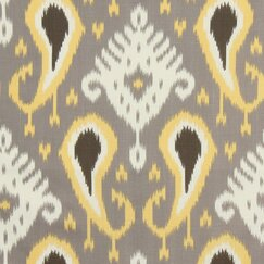<strong>DwellStudio</strong> Batavia Ikat Fabric - Citrine
