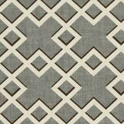 Shadow Trellis Fabric - Toffee