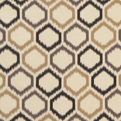 <strong></strong> Ikat Trellis Fabric - Toffee