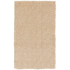 <strong>DwellStudio</strong> Diamond Jute Camel Rug