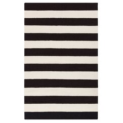 <strong></strong> Draper Stripe Black Rug