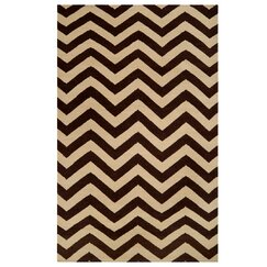 <strong></strong> Chevron Brown Rug