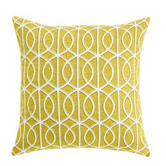 <strong>DwellStudio</strong> Gate Citrine Pillow