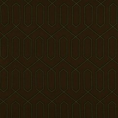 <strong></strong> Dotted Trellis Fabric - Major Brown