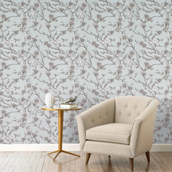 <strong>DwellStudio</strong> Vintage Blossom Jade Wallpaper
