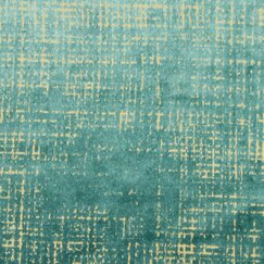 <strong></strong> Etched Velvet Fabric - Green