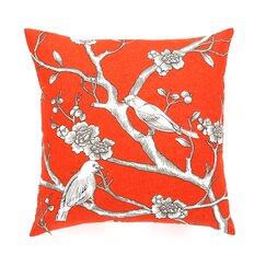 <strong>DwellStudio</strong> Vintage Blossom Persimmon Pillow Cover