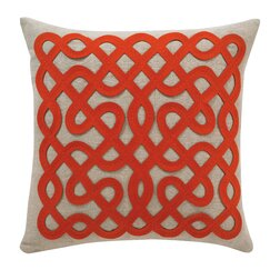 <strong>DwellStudio</strong> Labyrinth Persimmon Pillow