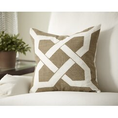 Kira Pillow Cover, Natural & White