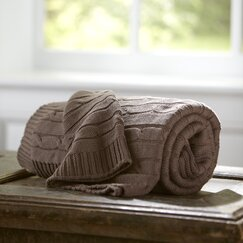 Clara Cable Throw, Mocha