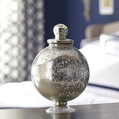 Orb Mercury Glass Jar