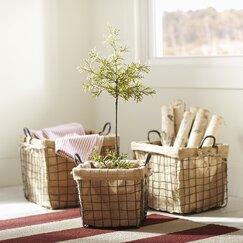 Schoolhouse Basket (Set of 3)