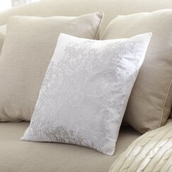 Gemma Metallic Pillow Cover, Silver
